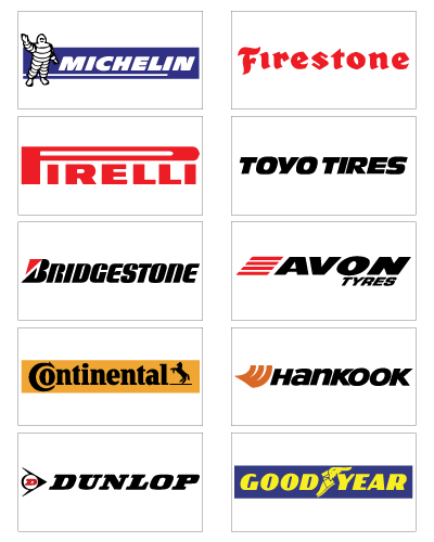 Brand name tyres