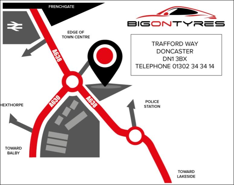 BIG ON TYRES trafford way